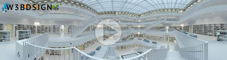 Panorama Bild Stadtbibliothek Stuttgart