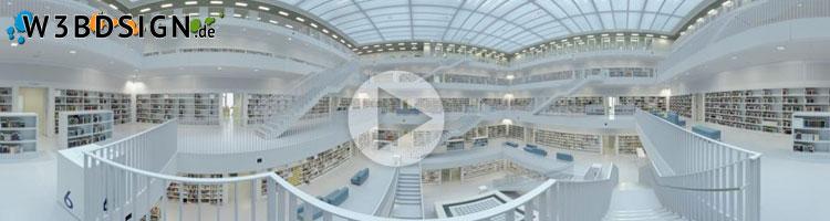 Panorama Bild Stadtbibliothek Stuttgart